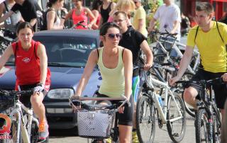 Фото игра на велосипедах в Юрмале