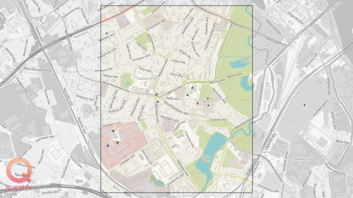 Фото ориентирование в Агенскалнсе — Карта