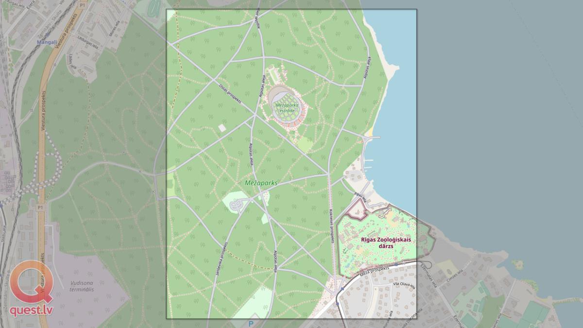 Foto orientēšanās Mežaparkā — Karte