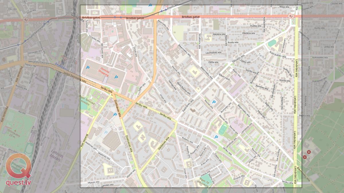 Фото ориентирование на Тейке — Карта